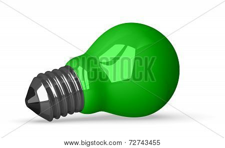 Green Tungsten Light Bulb Lying