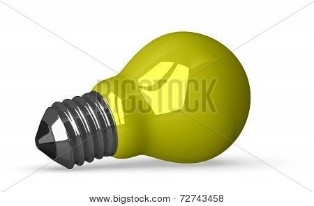 Yellow Tungsten Light Bulb Lying