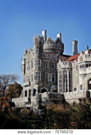 Castle against a blue sky