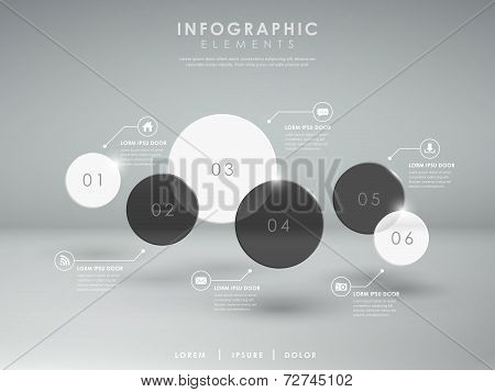 Abstract Glossy Translucent Circle Infographic