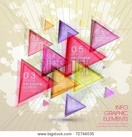 Colorful Modern Translucent Triangle Abstract Infographic