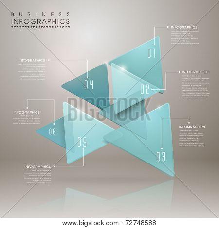 Abstract Translucent Geometric Arrow