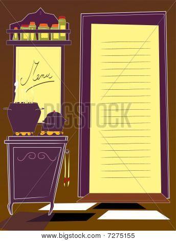 Kitchen and menu