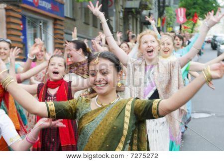 Hare Krishna follovers