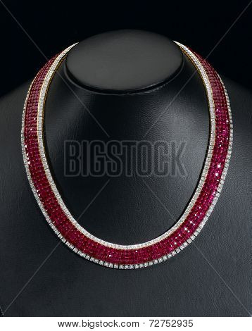 Siam ruby necklace