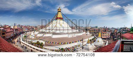 Bodnath Stupa Panorama