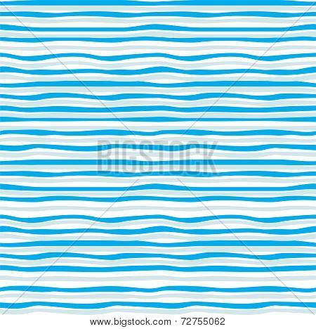 Abstract blue wave seamless pattern. Vector