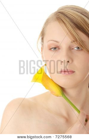 Young Woman With Calla