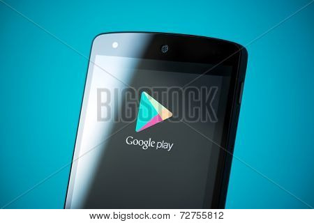 Google Play Logo On Google Nexus 5