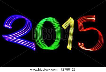 New Year 2015 Blurred Color Lights