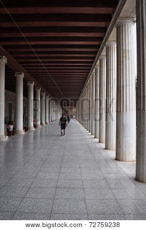 Stoa Of Attalos Covered Walkway