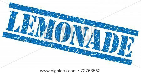 Lemonade Blue Grungy Stamp On White Background