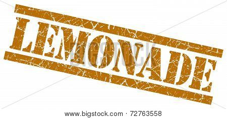 Lemonade Brown Grungy Stamp On White Background