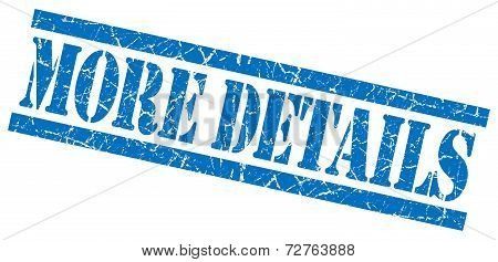 More Details Blue Grungy Stamp On White Background