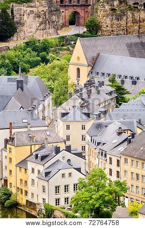 Rooftops And Buildings Of Luxembourg