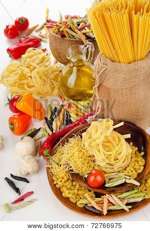 Italian Pasta With Vegetables And Olive Oil