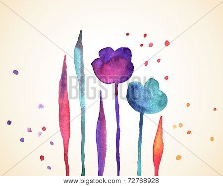 Floral vintage background.