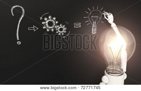 Lamp Character Writes The Solution