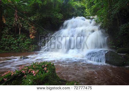 Mhundaeng Waterfall Phu Hin Rong Kla; National Park At Phitsanulok, Thailand