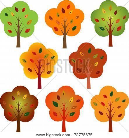 Multicolor Fall Trees, Tree Vectors