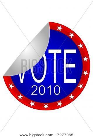 2010 Vote Sticker