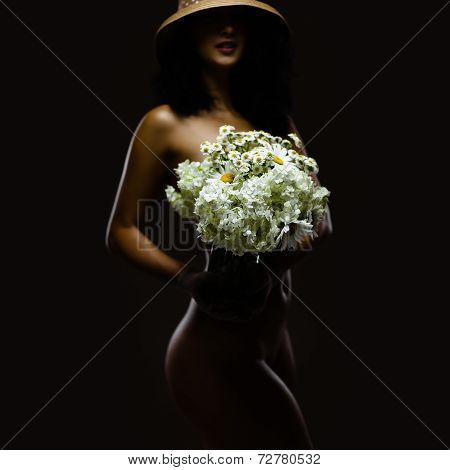 Naked With Bouquet