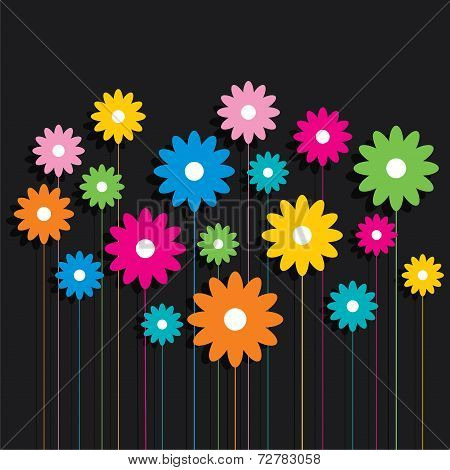 creative colorful flower pattern background