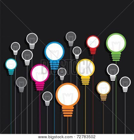 creative colorful bulb background