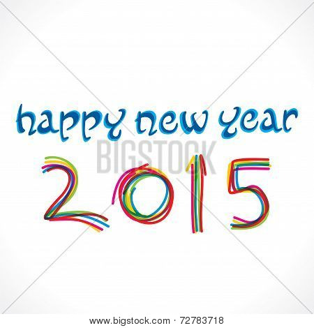 happy new year 2015 greeting design