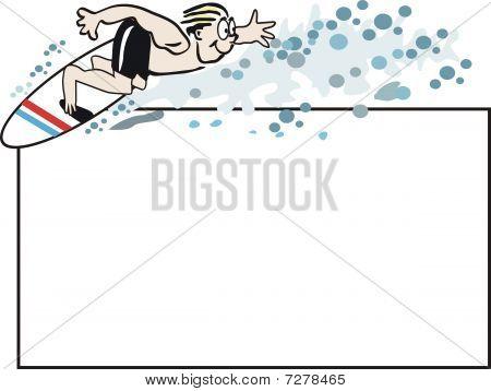 Surfer sport cartoon