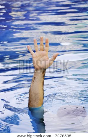 Hand Of Drowning Man