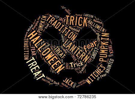 Jack O Lantern Word Cloud