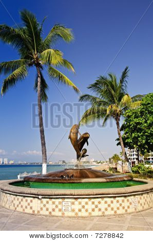Friendship Fountain In Puerto Vallarta, Mexico