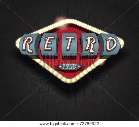 retro icon - signboard