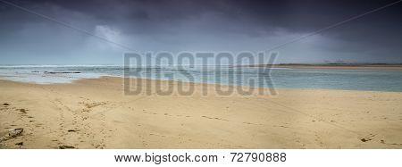 Panorama view of beach