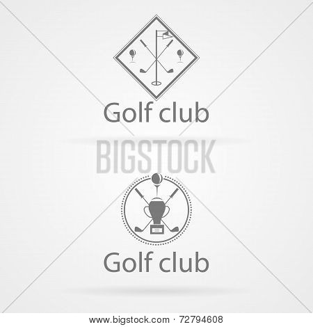 Vector illustration of two badge for golf club