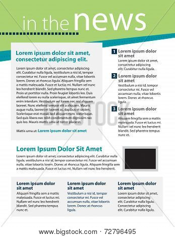 Newsletter Template Layout