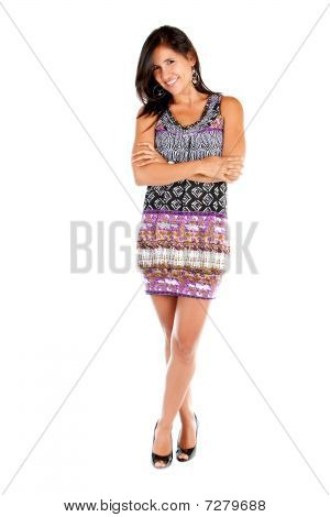 Woman In A Short Dress