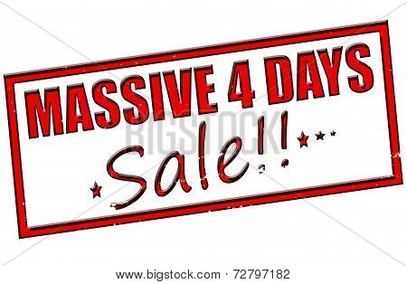 Massive Four Days Sale