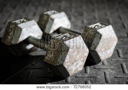 Dumbells on the floor