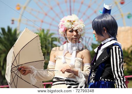 Japanese anime character cosplay girls