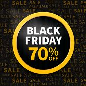 picture of friday  - Black friday poster sale on typography background - JPG