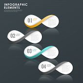 stock photo of mobius  - modern colorful infinity symbol infographic elements template - JPG