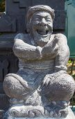 picture of stone sculpture  - Stone sculpture representing the old man Bali - JPG