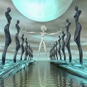 image of unbelievable  - Alien welcomes the world in a mystical kind - JPG