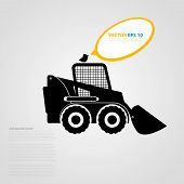 pic of skid-steer  - Vector isolated tractor icons - JPG