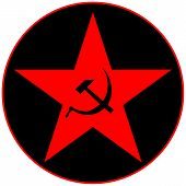 foto of communist symbol  - Communist star icon on white - JPG