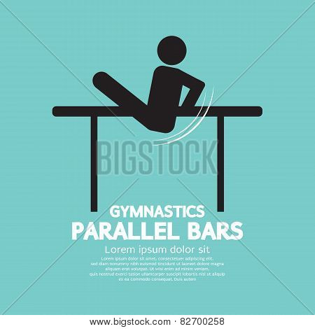 Parallel Bars Gymnastics.