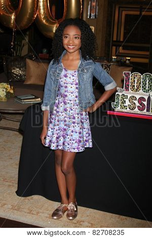 LOS ANGELES - FEB 12:  Skai Jackson at the Disney Channel's