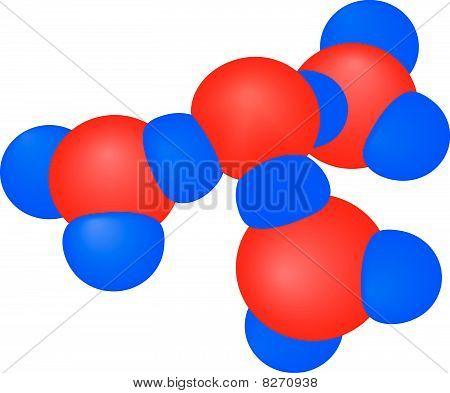 Molekül mit Atomen